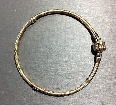 PANDORA Solid 14k Yellow Gold Womens Charm Bracelet 8 Inches