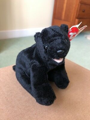 TY BEANIE BABY CINDERS the Black Bear Mint with Mint Tags -  1.63 ... dbc926cccab