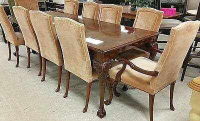 Karges Queen Anne Walnut Dining Table Only With Leaf