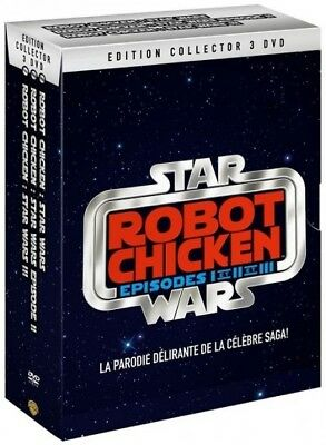 Robot Chicken Star Wars Episodes I and II and III BOX DVD NEW BLISTER PACK