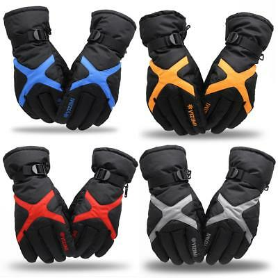 Winter Waterproof Motorbike Motorcycle Leather Gloves for Winter Thickened Warm