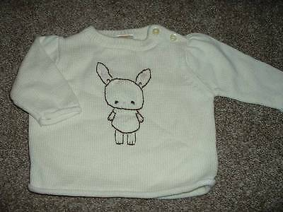 Gymboree Baby Girls Cozy Critters Bunny Sweater Size 3-6 months mos EUC HTF