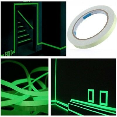 3M Safety Sign Luminous Sticker Tape Glow In The Dark Fluorescent Home Stage