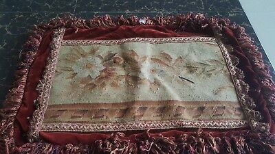 """Antique 19th century Aubusson French hand woven  Cushion size 24""""x15""""cm61x38"""