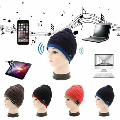 Bluetooth Music Beanie Hat Wireless Smart Cap Headset Headphone Speaker Mic TE