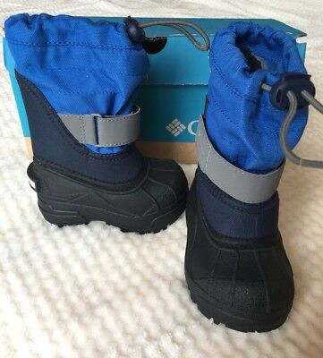 New Columbia Toddler Twin Tundra Boys Snow Boots Waterproof Size 5 Yv 5313 426