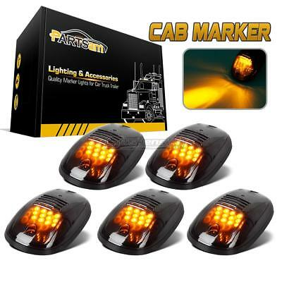 5xSmoked Roof Top Car Truck SUV Cab Marker 264146BK Clearance Amber 12LED Lights