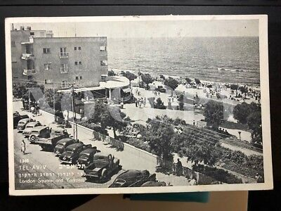 Postcard Israel TEL AVIV - London Square and Yarkon St.1958.