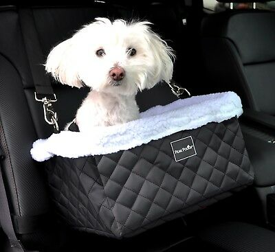 Peak Pooch Luxurious Dog Doggie Booster Basket Car Seat Bed for Small Dogs
