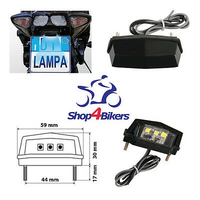 Motorcycle Quad Led Number Plate Light Smd Super Bright White Light - Free P+P