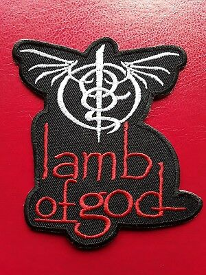 Lamb Of God American Heavy Metal Rock Music Band Embroidered Patch Uk Seller