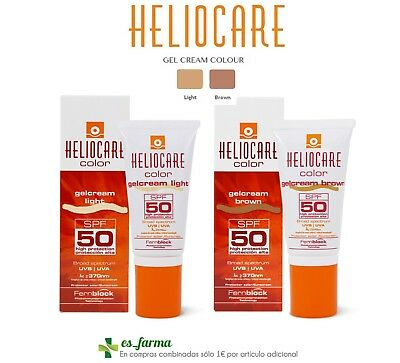 Heliocare Spf50 Gel Crema Color 50Ml Light Brown Gelcream Spf 50 Aestheticare