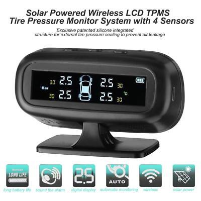 Solar Power Wireless Car TPMS Tire Pressure Monitor System+4 Internal Sensors