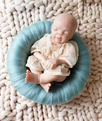 Baby Posing Pod Photography Prop Nest Basket Teal