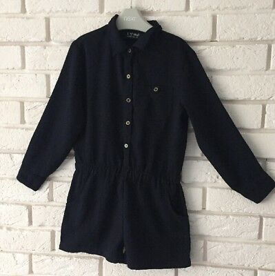 Next Navy Blue Long Sleeve Playsuit Jumpsuit With Pockets Formal Party Age 6 Yrs