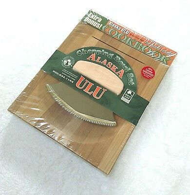 Alaska Ulu Chopping Bowl Set w/ Cookbook Hardwood Cutting Board USA