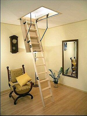 Insulated Floor Staircase, Space-Saver Stairs, Attic Stairs / Many Sizes / New