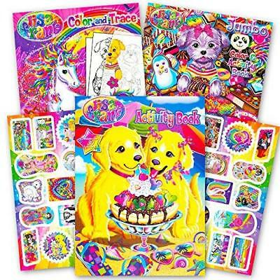 lisa frank coloring book and stickers super set 3 books with over 30 lisa frank