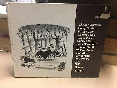 1967 VOLKSWAGEN Think Small Dealer Promo Cartoons Charles Addams/William Steig