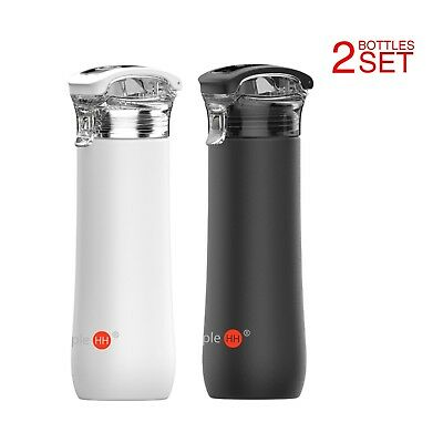 2-Pack Simple HH 23oz Double Wall Vacuum Insulated Stainless Steel Water Bottle