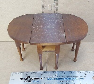 Dollhouse Wood Kitchen Table Extendable Folding Moves 4 to 8 legs.