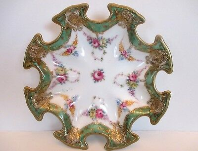 SALE R C Noritake Rare Antique Sevres Hand Painted Dish, Early 1902-1911