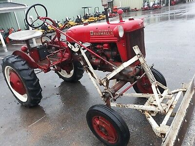 1950 Farmall IH Cub tractor blade, cultivators,plow coulter antique vintage used