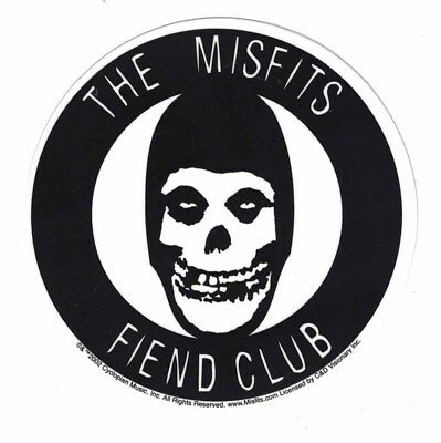 Misfits Fiend Club STICKER - Decal Music Band Album Art SE285