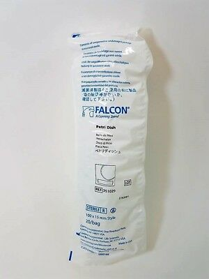 NEW PACK OF 20 Falcon Corning Ten-Twenty-Nine 351029 Petri Dishes 100X15 MM Dish