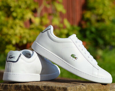 Lacoste Carnaby Evo BL 1 SPM **White** Leather mens Traniers  UK 6 -12 REAL PIC