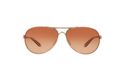 Oakley Sunglasses Feedback OO4079-25 Rose Gold Frames Vr50 Brown Lens