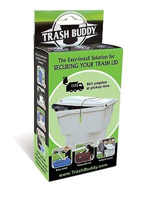 Trash Buddy - Dog Proof - Solution for Securing Your Outdoor Garbage Can Lid