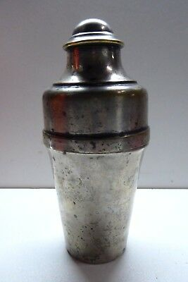 Vintage Silver Plated Brass Art Deco Cocktail Shaker