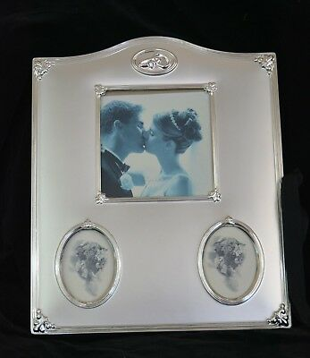 Photo album silver plated velvet for 24 pictures 8-1/2 x 11 inches (refab2bte43)