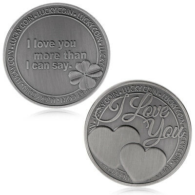 Lucky Love Words Romance Couple Commemorative Coin Collection Art Souvenir Gift