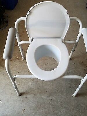 Raised InacareToilet Seat Adult Commode Chair Bedside Bathroom  Bucket Travel