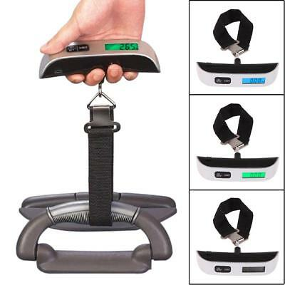 Portable LCD Display Digital Luggage Scale Travel Hook Hanging Weight 110lb/50kg