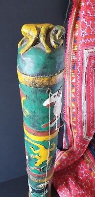 Old Borneo Dayak Carved Bamboo Dart / Arrow Holder …beautiful collection item