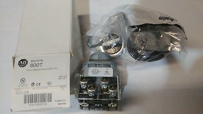 (17 Available) NEW ALLEN BRADLEY 800T-J2B SELECTOR SWITCH SER T 30mm 3 Position