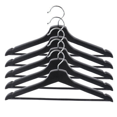 5 Pieces Adults Wooden Hangers Suit Coat Hanger Smooth Finished Non-slip Bar