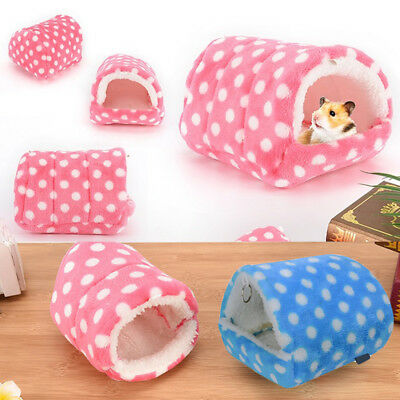 New Cute Winter Hamster Pad Bed Nest Plush Soft Guinea Pig House Small Animal C