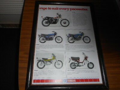 Picture poster.Yamaha XT500c . RD250 RD200c TJ80JC  LB80 Chappy