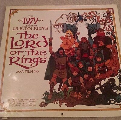 1979 J.R.R. TOLKIEN'S The Lord of the Rings Calendar  Excellent Condition!