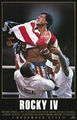 Rocky IV Sylvester Stallone Original Single Sided 27x40 Movie Poster 1985