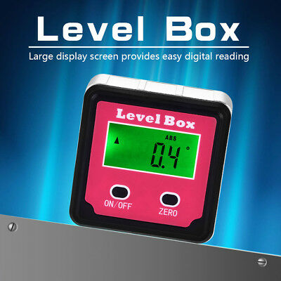 4*90° Digital Protractor Inclinometer Level Bevel Box Angle Finder Angle Ruler