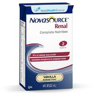 Oral Supplement Novasource Renal Vanilla 8 oz. Carton Case of 27