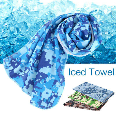 New Cooling Towel 8 Colours Fitness Sport Gym Yoga Exercise Gear 16℃ 90*30cm