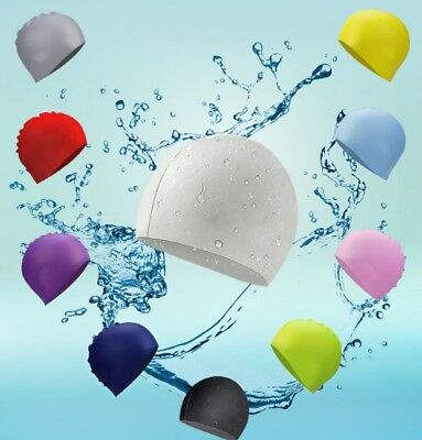 New Men Women Adults Silicone Swim Pu Swimming Cap Durable Flexible Swim Caps