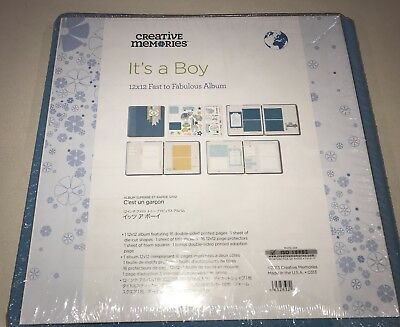 Creative Memories 12x12 Its a Boy Fast To Fab Kit, Pages, Protectors, stickers..