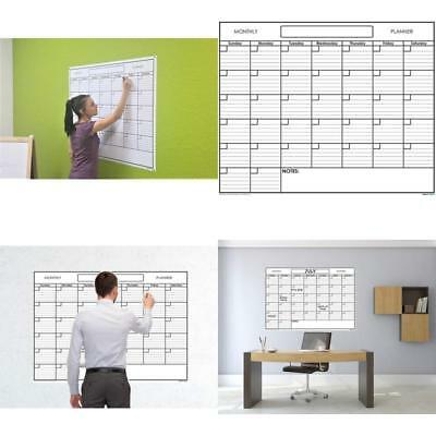 Calendar Wall Monthly Planner One Month Dry Erase Board White Large Home 36 x 48
